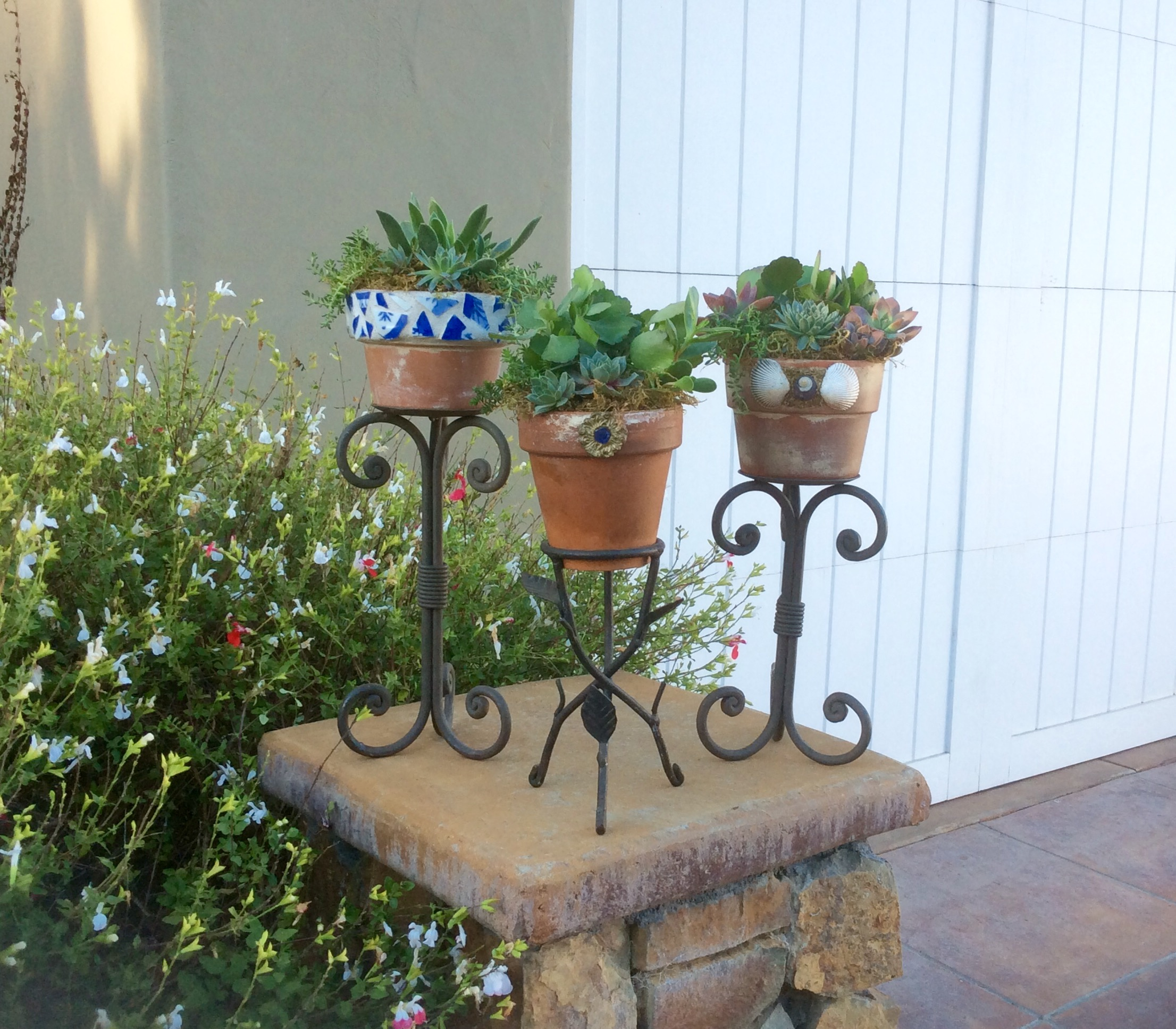 planted pots garden treasures by lisa